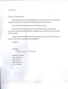 Recommendation Letter For Great Employee Letter Of Recommendation Esparza