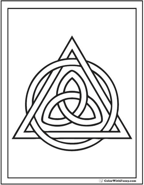 celtic coloring pages colorwithfuzzy celtic triangle coloring page for the