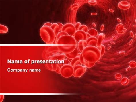 blood powerpoint template blood capillary powerpoint templates and backgrounds for
