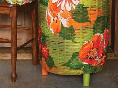 Decoupage Decorating Ideas - decoupage with fabric how to decorate a wicker clothes