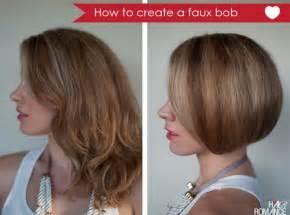 how to fix medium bob hair how to make long hair short faux bob hair tutorials