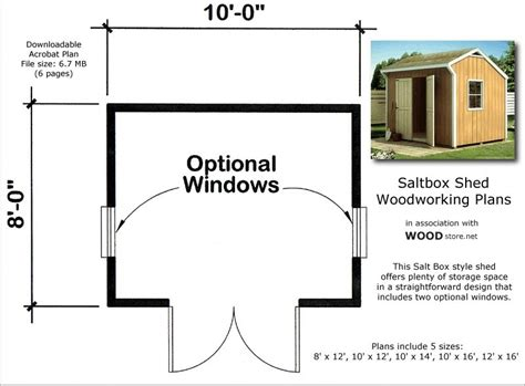 learn   saltbox shed plans goehs