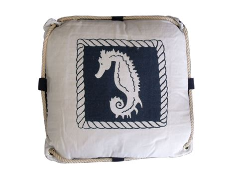 Nautical Pillows Wholesale wholesale navy blue and white seahorse decorative nautical