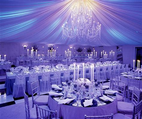 Purple wedding decorations, Purple wedding and Lighting on