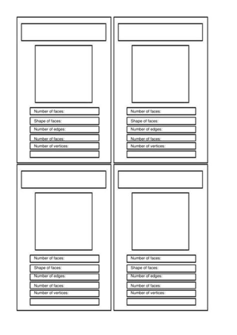 blank top trumps card template investigating 3d shapes by pompeygirl teaching resources