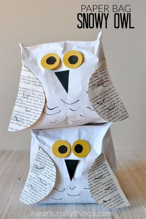 Canon Paper Craft Snowy Owl - paper bag snowy owl craft owl crafts