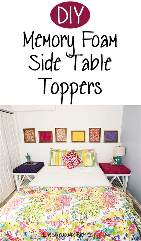 memory foam table topper diy memory foam side table toppers live like you are rich