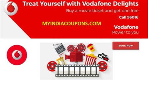 bookmyshow free ticket vodafone delight offer buy 1 get 1 movie ticket free