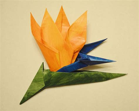 Origami Bird Of Paradise - 42 beautiful origami flowers that look almost like the