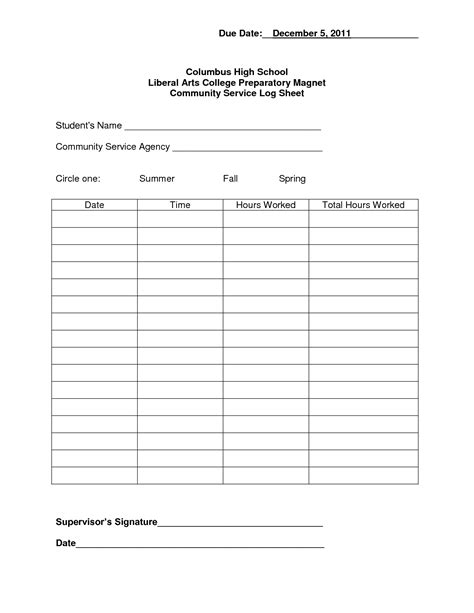 community service log sheet template volunteer log sheet template just b cause