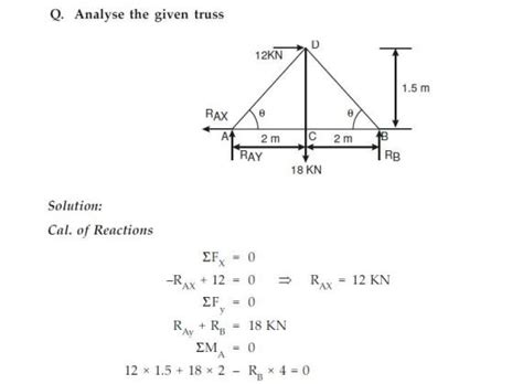 method of section in truss vedupro method of sections method of sections truss