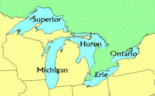 united states map 5 great lakes great lakes information environmental monitoring