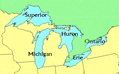 map of the united states showing great lakes us map 5 great lakes