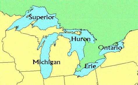 us map five great lakes great lakes information environmental monitoring