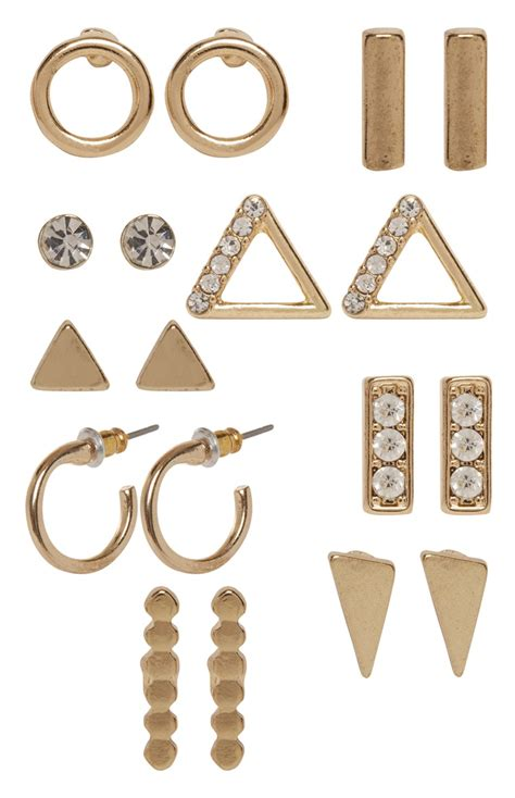 9 pack gold tone stud earrings are exceptional for