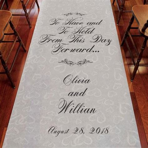 Buy Wedding Aisle Runner by To And To Hold Personalized Wedding Aisle Runner