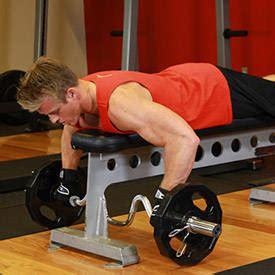 bench barbell row incline bench pull exercise guide and video