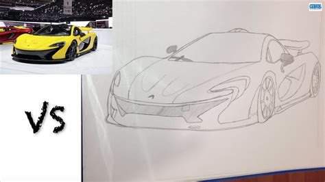 mclaren p1 drawing easy drawing mclaren p1 youtube