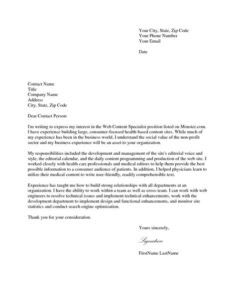 Application Cover Letter by Cover Letter Application Application Cover Lettercover Letter Sles For