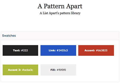 Pattern Library A List Apart | optimizing markup and styles designing for performance