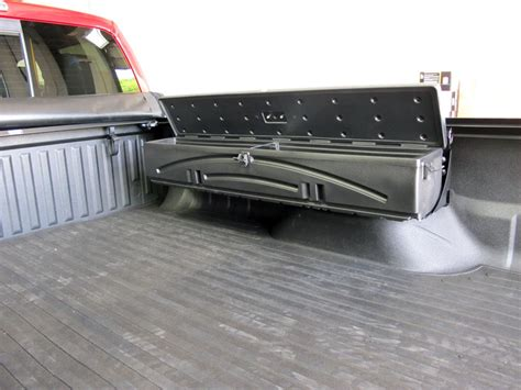 truck bed gun storage du ha humpstor truck bed storage box and gun case side
