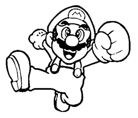 mario jumping coloring page dibujo para colorear super mario 4