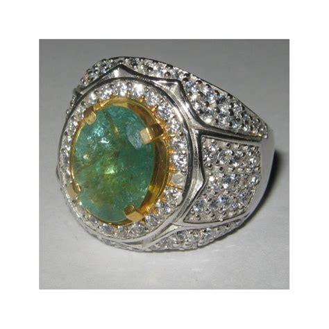 Cincin Cincin Berlian Imitasi Silver 3 Batu 1 5 Karat Lapis Emas P cincin batu zamrud 2 72 carat ring 10 5 us silver 925