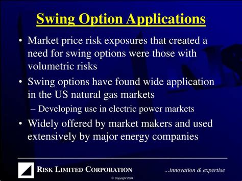 swing option ppt swing options structure pricing powerpoint
