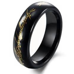black ring tungsten black gold lord of ring mens ring size 6 10 in rings from jewelry on aliexpress