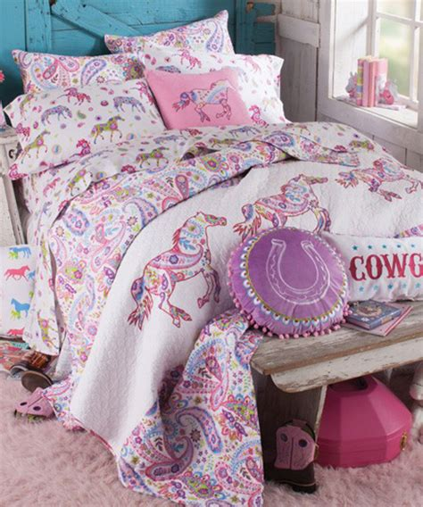 horse coverlet girls horse bedding cowgirl pony bedding sets
