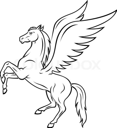 pegasus horse stock vector colourbox
