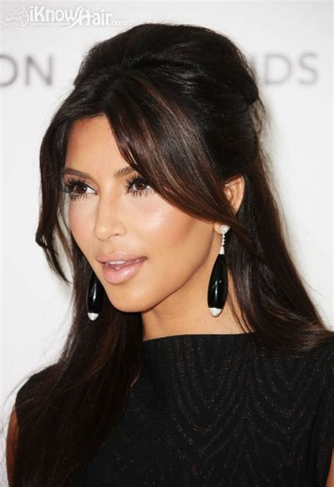 how do have middle parting with short bangs half up hairstyles 2012 for wedding for prom short