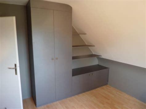 meuble pour chambre mansard馥 lire la suite placard sous pente avec meuble bas marcq en