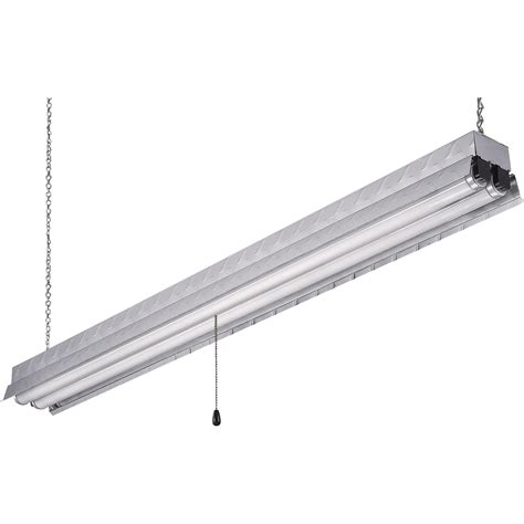 Led Workshop Lighting Fixtures Canarm Hanging Metal Fluorescent Shop Light 48in L 32 Watts 2100 Lumens Model Efs848232al