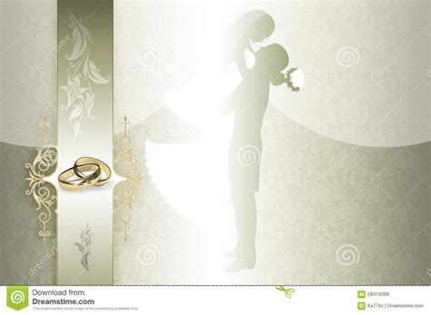 Wedding Ring Background Designs by Wedding Invitation Card Design Stock Illustration