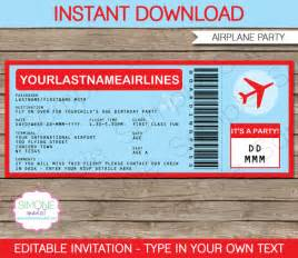 boarding pass invitation template 36 free psd format
