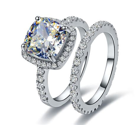 High Quality Simulated Engagement Rings by Aliexpress Buy Dropshipping Luxury 3ct Simulate