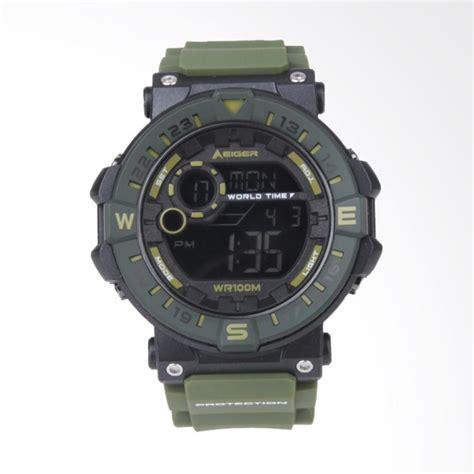 jual eiger leschaux 4 0 jam tangan pria green