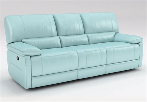 light blue loveseat kuka maui light blue reclining sofa and reclining console