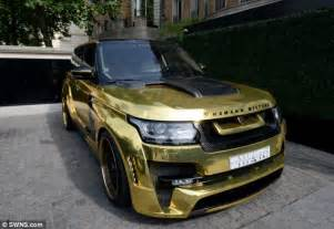 gold range rover with a 666 number plate flown in by