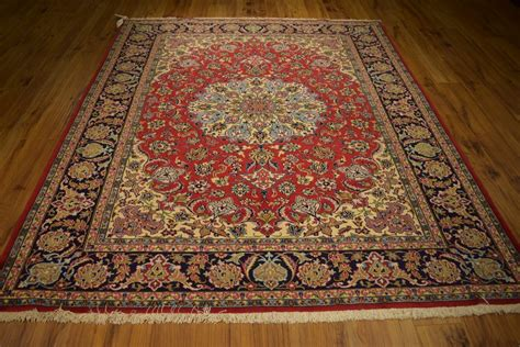 rugs affordable affordable rugs ghom design knotted rug 7 x 8 high end kork wool ebay