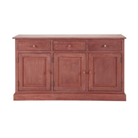 credenza rossa credenza rossa in legno l 151 cm pauillac maisons du monde