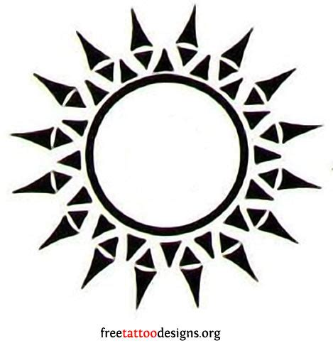 tribal suns tattoos 65 sun tattoos tribal sun designs