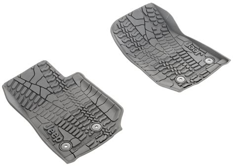 jeep slush mats mopar 82213861 floor slush mats with tire tread pattern