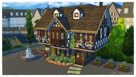 create a house the sims 4 build tutorial how to build a tudor house sims community