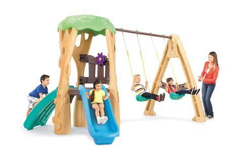 little tikes lookout swing set little tikes tree house swing set