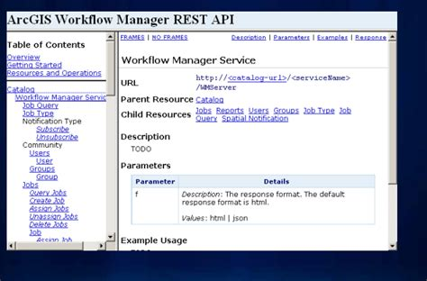 arcgis workflow manager for server where is the arcgis workflow manager rest api