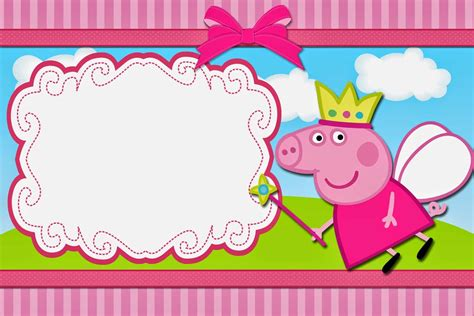 Cards Template Looking by How To Create Peppa Pig Birthday Invitations Templates