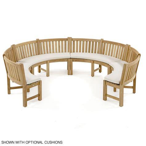 curved teak bench buckingham designer teak curved bench westminster teak