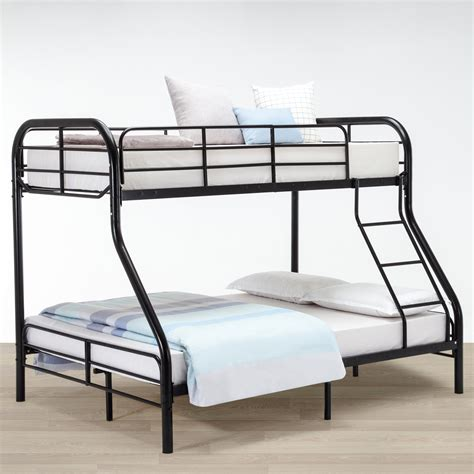 dorm bed frame twin over full metal bunk bed frame kids teens adult dorm